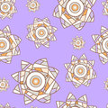 Light violet seamless floral background with patchwork narcissuses delicate Royalty Free Stock Photo