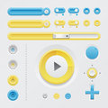 Light Web UI Elements Royalty Free Stock Image