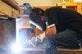 Light of welding slot Royalty Free Stock Photo