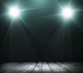 Light on wooden floor in empty room Royalty Free Stock Photography