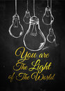 Light of the world bulb sketch background digital art Royalty Free Stock Images