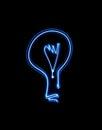 Lightbulb blue light painted idea Stock Photography