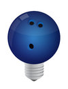 Lightbulb bowling ball illustration design over a white background Royalty Free Stock Image
