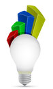 Lightbulb graph Royalty Free Stock Photos