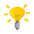Lightbulb icon isolated on white