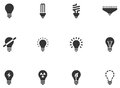 Lightbulb icons is available for your designs Royalty Free Stock Photo
