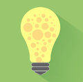 Lightbulb idea concept flat design and long shadow Royalty Free Stock Photos