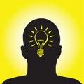 Lightbulb idea Royalty Free Stock Photo
