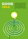 Lightbulb ideas concept. Vector illustration.