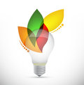 Lightbulb leaves idea concept illustration design over white Stock Images