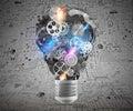 Lightbulb Mechanisms Of Gears....
