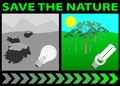 Lightbulb nature save 图库摄影