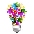 Lightbulb puzzle Royalty Free Stock Image
