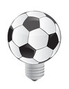Lightbulb soccer ball Stock Photography