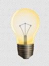 Lightbulb on transparent background Royalty Free Stock Photo