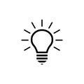 Lightbulb vector icon Royalty Free Stock Photo