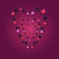 Lightbulbs in Shape of Heart