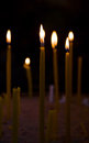 Lighted candles in church Royalty Free Stock Photo