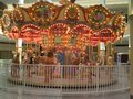 Lighted horse carousel in mall beautiful ride inside carlsbad california Stock Images