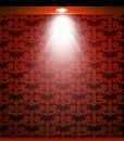 Lighted red seamless wall with lamp vector illustration Stock Image