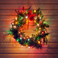 Lighted Wreath Royalty Free Stock Photos