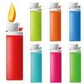 Lighter Icon Set Royalty Free Stock Photo