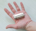 Lighter in man`s hand Royalty Free Stock Photo