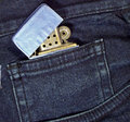 Lighter in a pocket Royalty Free Stock Photography
