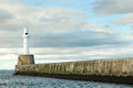 Lighthouse in aberdeen scotland uk Stock Photos