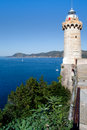 Lighthouse Above The Sea, Portoferraio Stock Photography