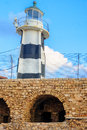 Lighthouse acre the in the old city of israel Royalty Free Stock Photography