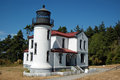 Lighthouse admiralty head near fort casey on whidbey island Stock Image