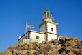 Lighthouse in akrotiri santorini island greece Royalty Free Stock Photos