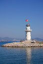 Lighthouse in alanya turkey summer day Stock Photos