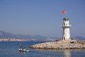 Lighthouse in alanya turkey summer day Stock Image