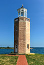 Lighthouse avery point groton connecticut at in Stock Images