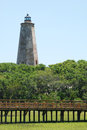 Lighthouse on Bald Head Royalty Free Stock Photo