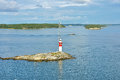 Lighthouse in baltic sea aland islands finland Stock Photo