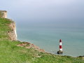 Lighthouse of beachy head uk Stock Image