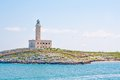 A lighthouse in the beautiful sunny day in Vieste Italy Royalty Free Stock Photo