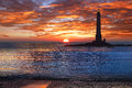 Lighthouse brittany france picturesque nature landscape with Royalty Free Stock Photography
