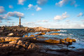 Lighthouse in cabo polonio rocha uruguay Royalty Free Stock Image