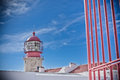 Lighthouse of cabo sao vicente sagres portugal farol do built in october Stock Photo