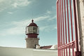 Lighthouse of cabo sao vicente sagres portugal farol do built in october Royalty Free Stock Images