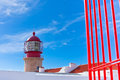 Lighthouse of cabo sao vicente sagres portugal farol do built in october Stock Photography