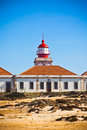 Lighthouse of Cabo Sardao, Portugal Stock Image