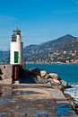Lighthouse - Camogli Royalty Free Stock Photos