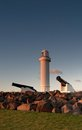 Lighthouse and cannons at wollongong Stock Image