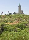 Lighthouse at cap frehel in brittany france Royalty Free Stock Photo