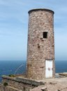 Lighthouse at cap frehel in brittany france Royalty Free Stock Photos